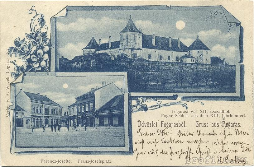 Fagaras Stronghold and The City - 1900